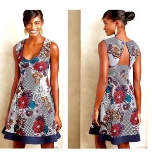 Maeve Navy Floral Print Dress